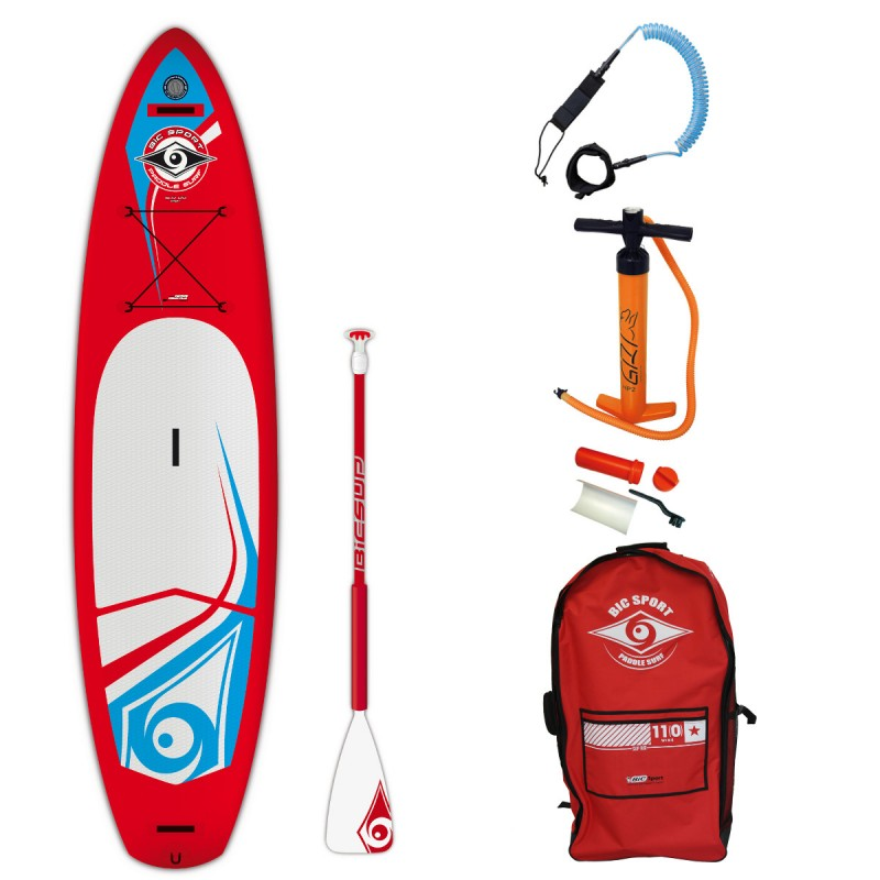 Irklentės komplektas 11'0 SUP AIR Touring + irklas Travel AP + saitas SUP 11 ft Coil